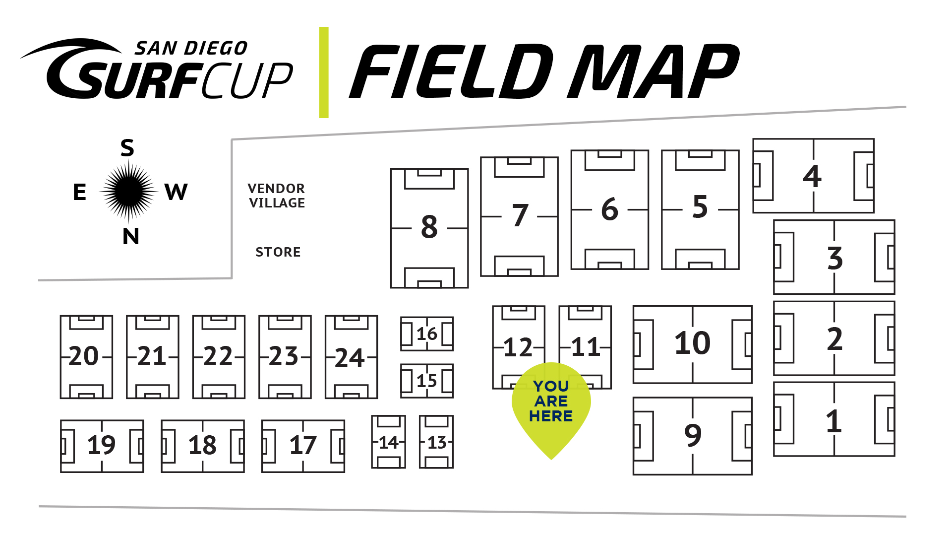 Surf Cup Field Map Del Mar Youngers